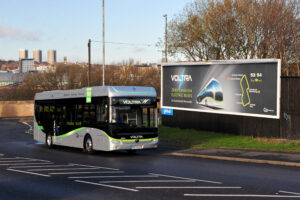 Voltra electric bus in Gateshead