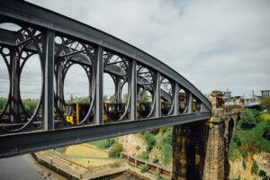 Tyne and Wear Metro crossing River Wear